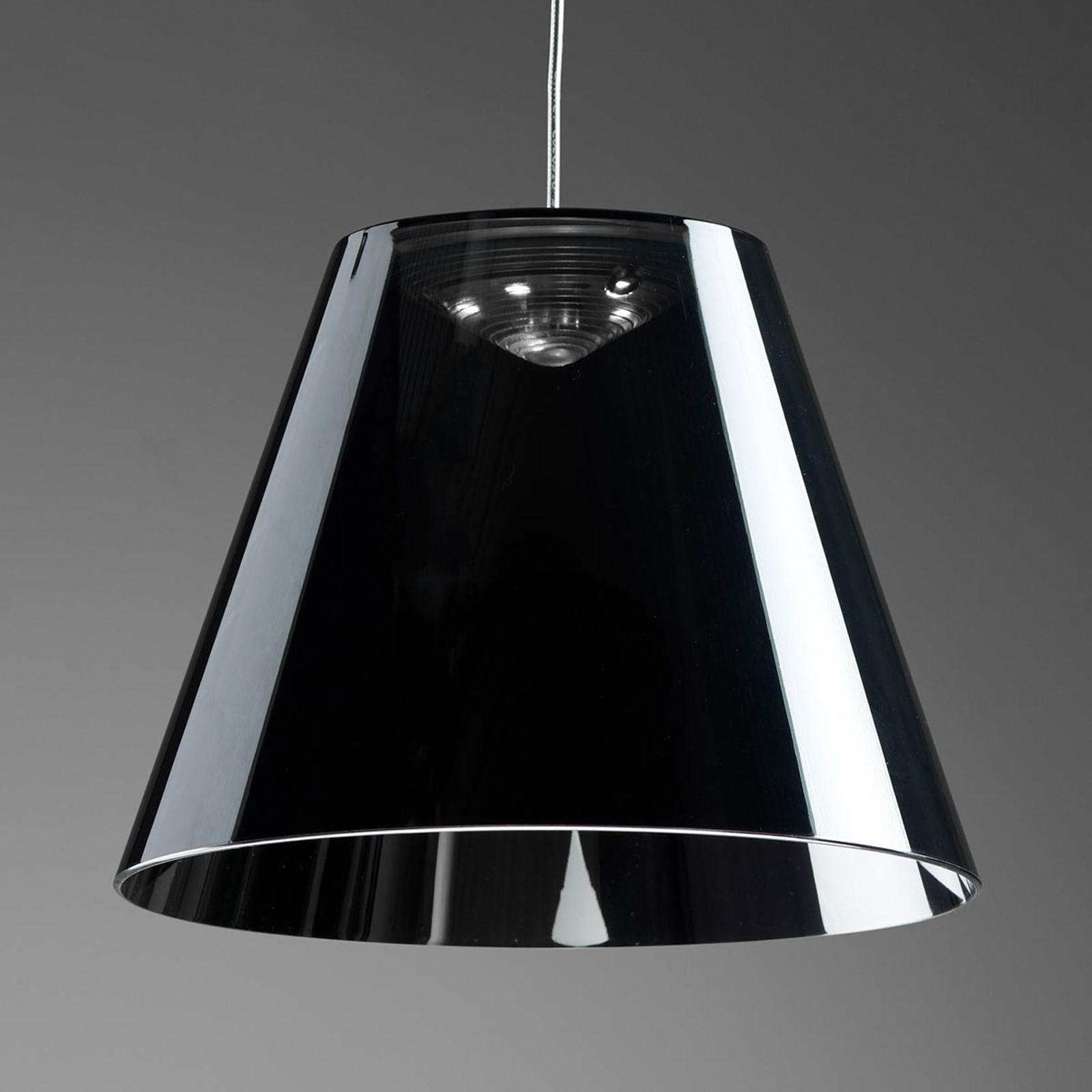 Rotaliana Dina - schwarze LED-Hängeleuchte