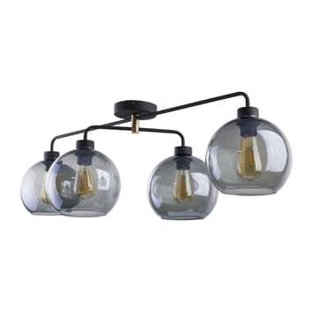 Lámpara de techo Bari de vidrio, 4 luces