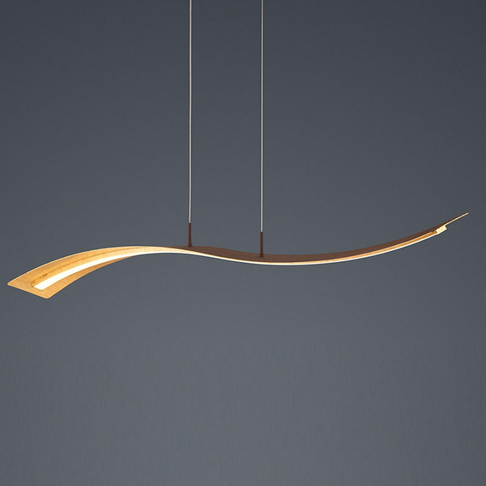 LED-pendellampe Salerno, SwitchDim-funksjon, gull