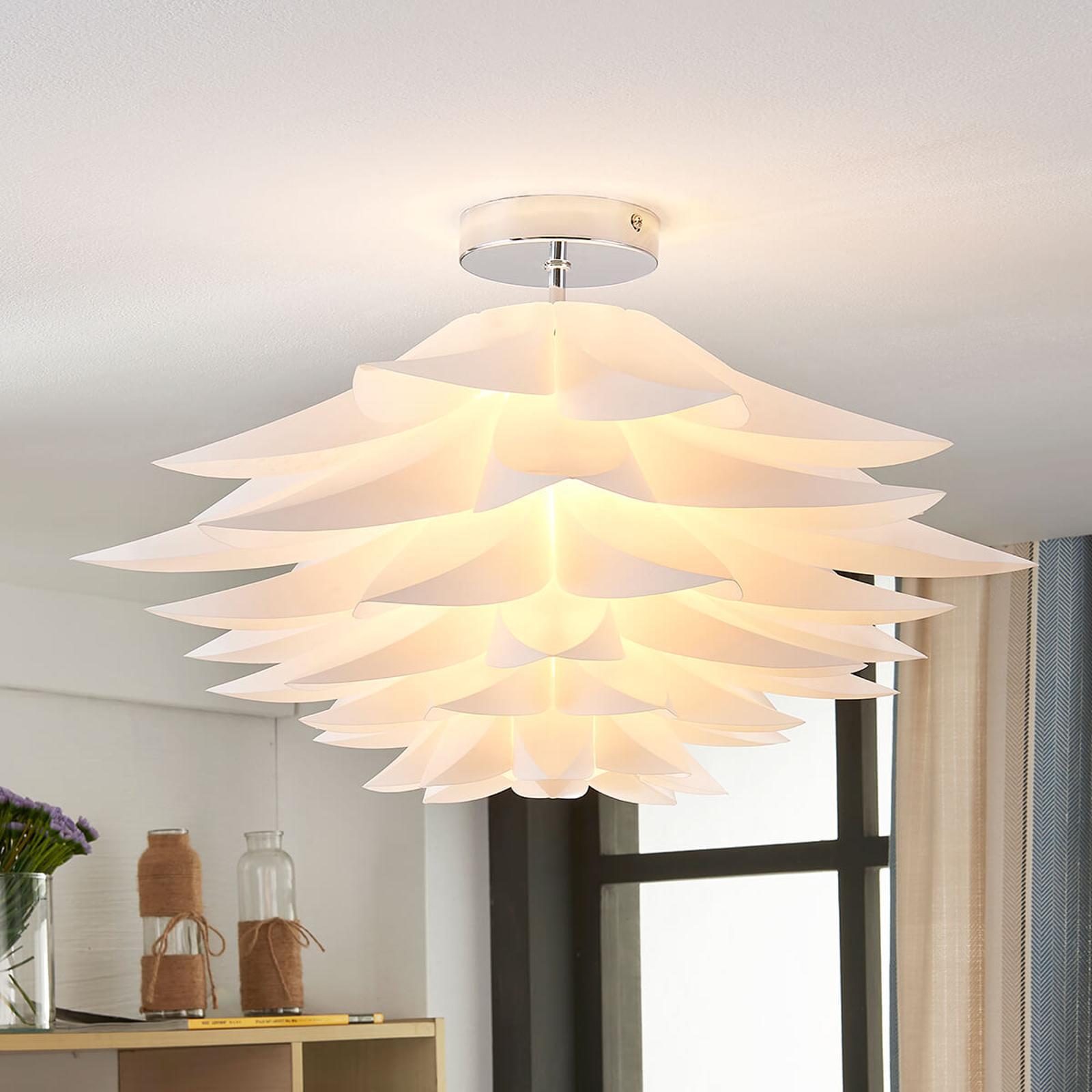 Rimon – lampa sufitowa kwiatowa w kolorze białym