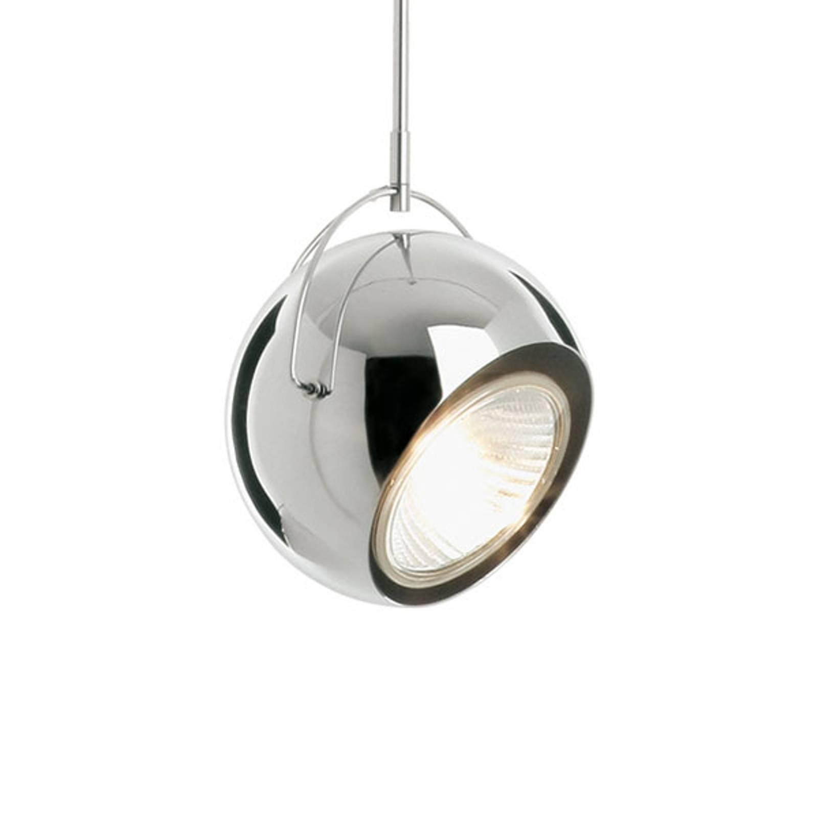 Fabbian Beluga staal chroom-hanglamp, Ø 14 cm