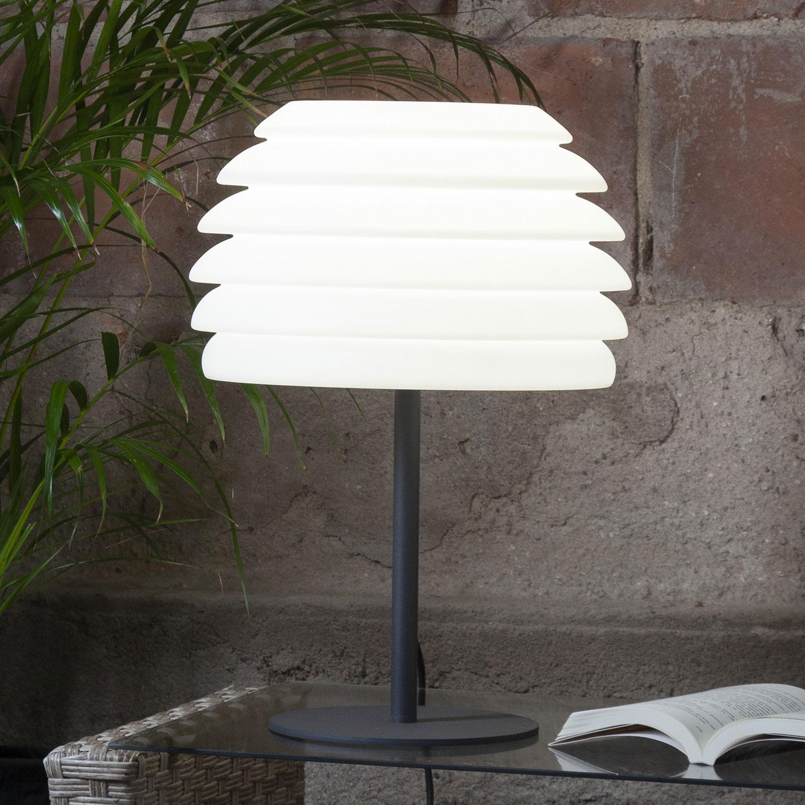 Lampada da terrazza Gardenlight ondulato, 50 cm