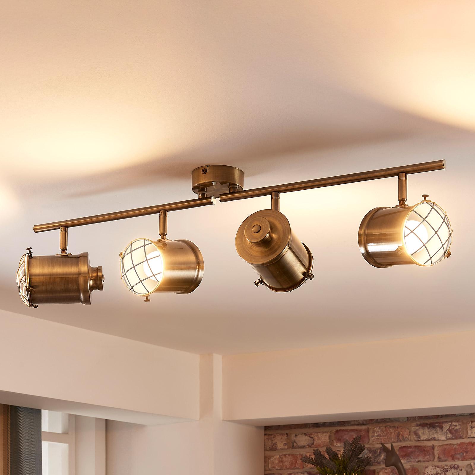 Plafonnier LED Ebbi à 4 lampes, easydim