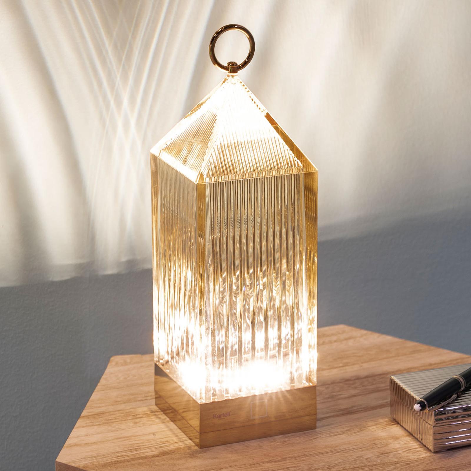 Kartell Lantern LED-bordslampa, bärnsten IP54
