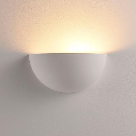 Lampa LED Narin oświetlająca ścianę, gipsowa, biel
