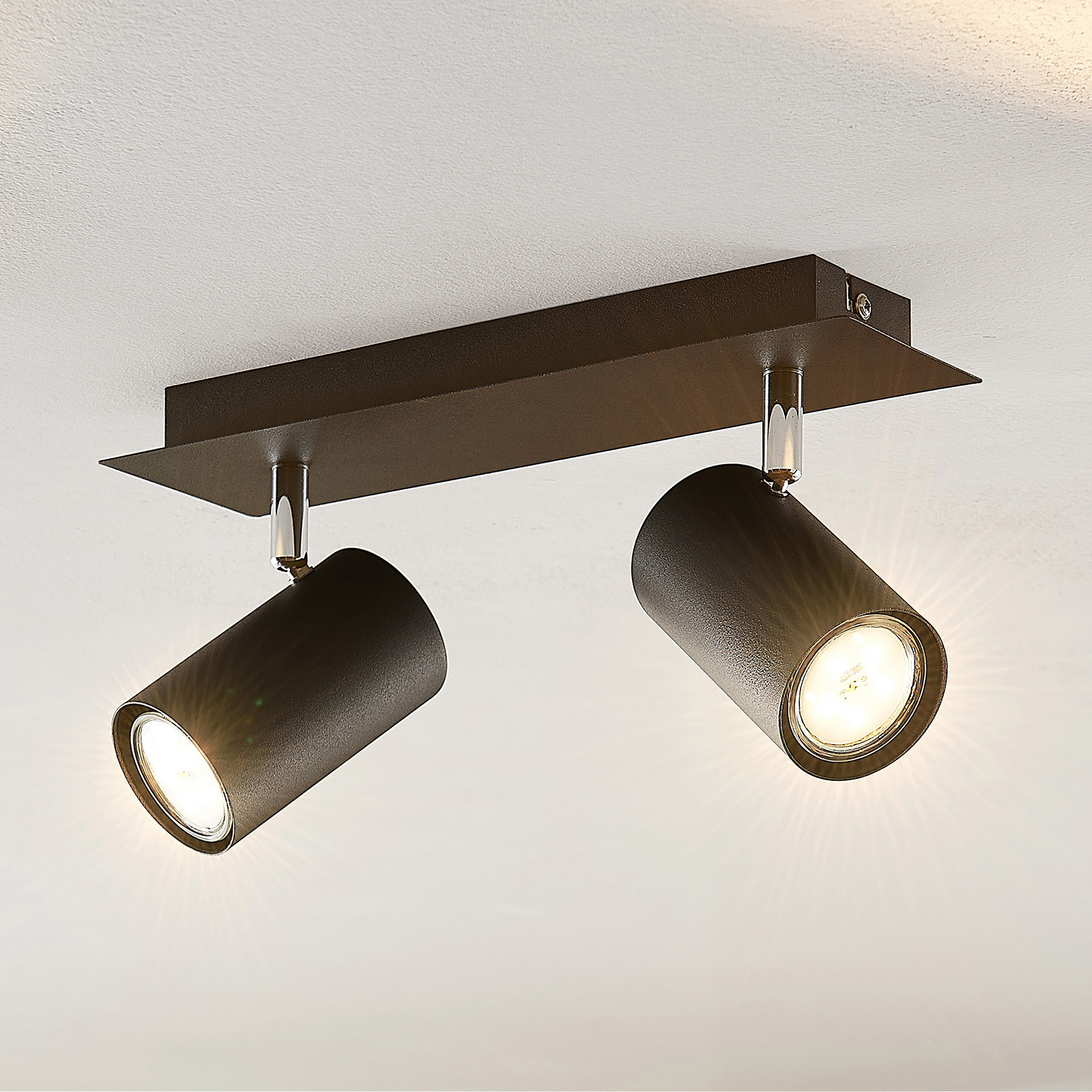 Lindby Joffrey takspotlight, 2 lyskilder, svart