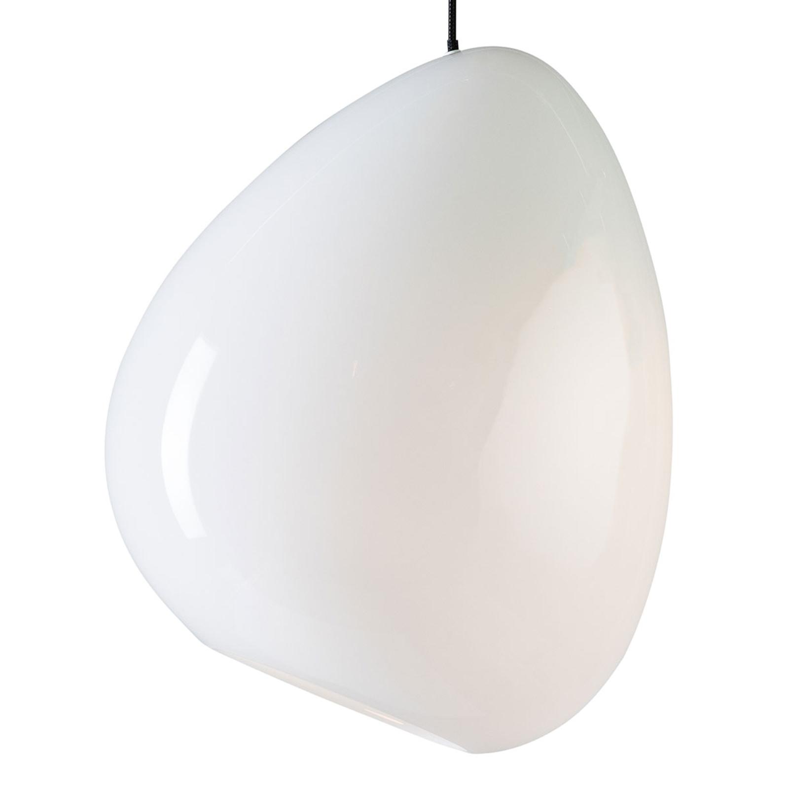 Lampa wisząca Ocean szkło biała błyszcząca