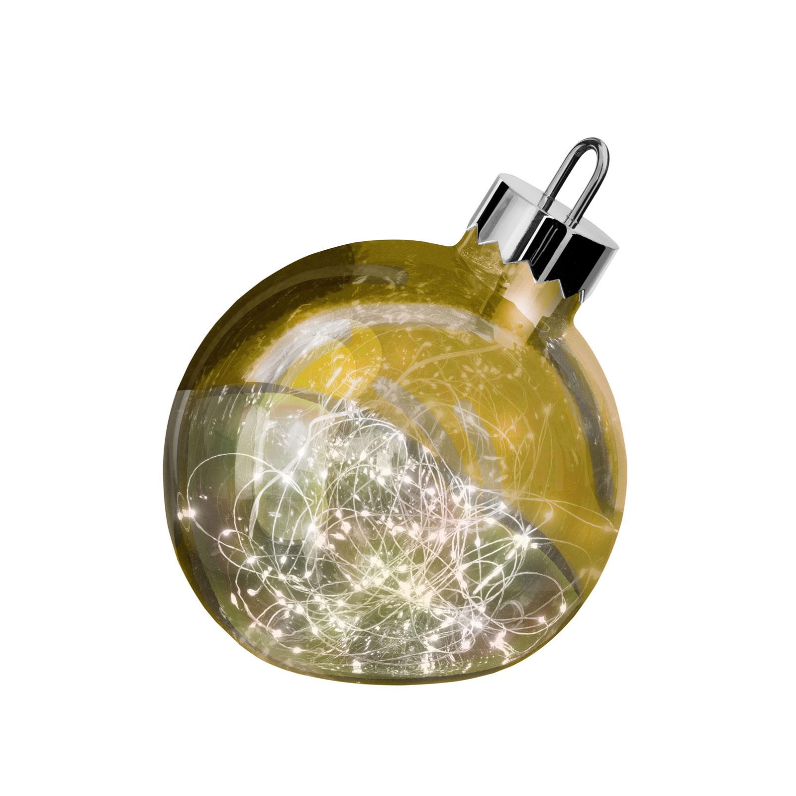 Billede af Ornament dekorationslampe, guld, Ø 20 cm