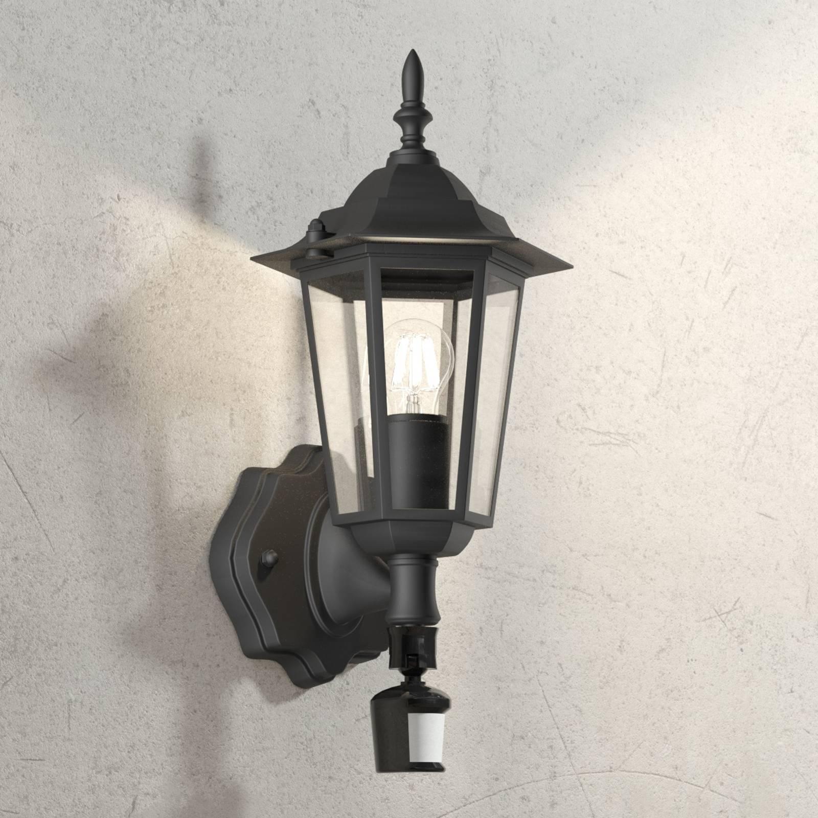 Buitenwandlamp Laterna 4 zwart, met sensor