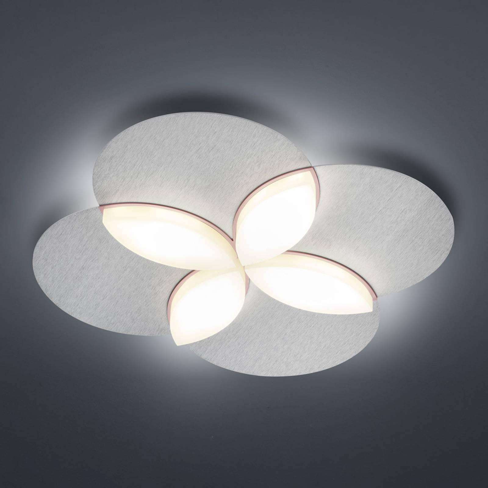 BANKAMP Spring LED plafondlamp, zilver geanodis.
