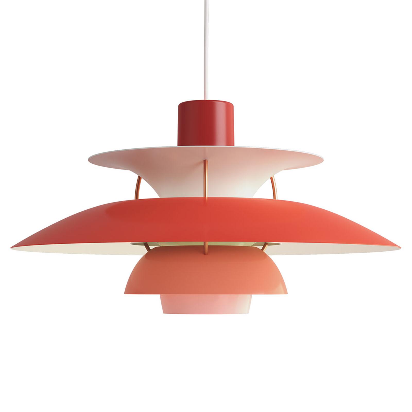 Deense designer hanglamp PH 5, rood