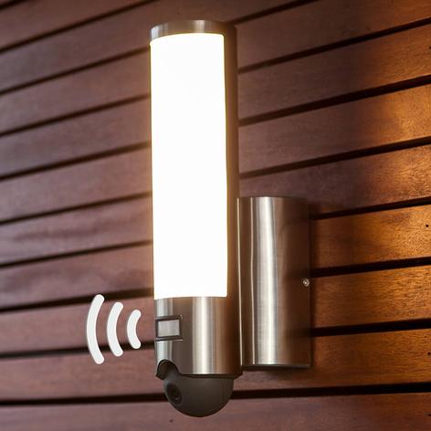 LED udendørs-væglampe Elara Cam -integreret kamera