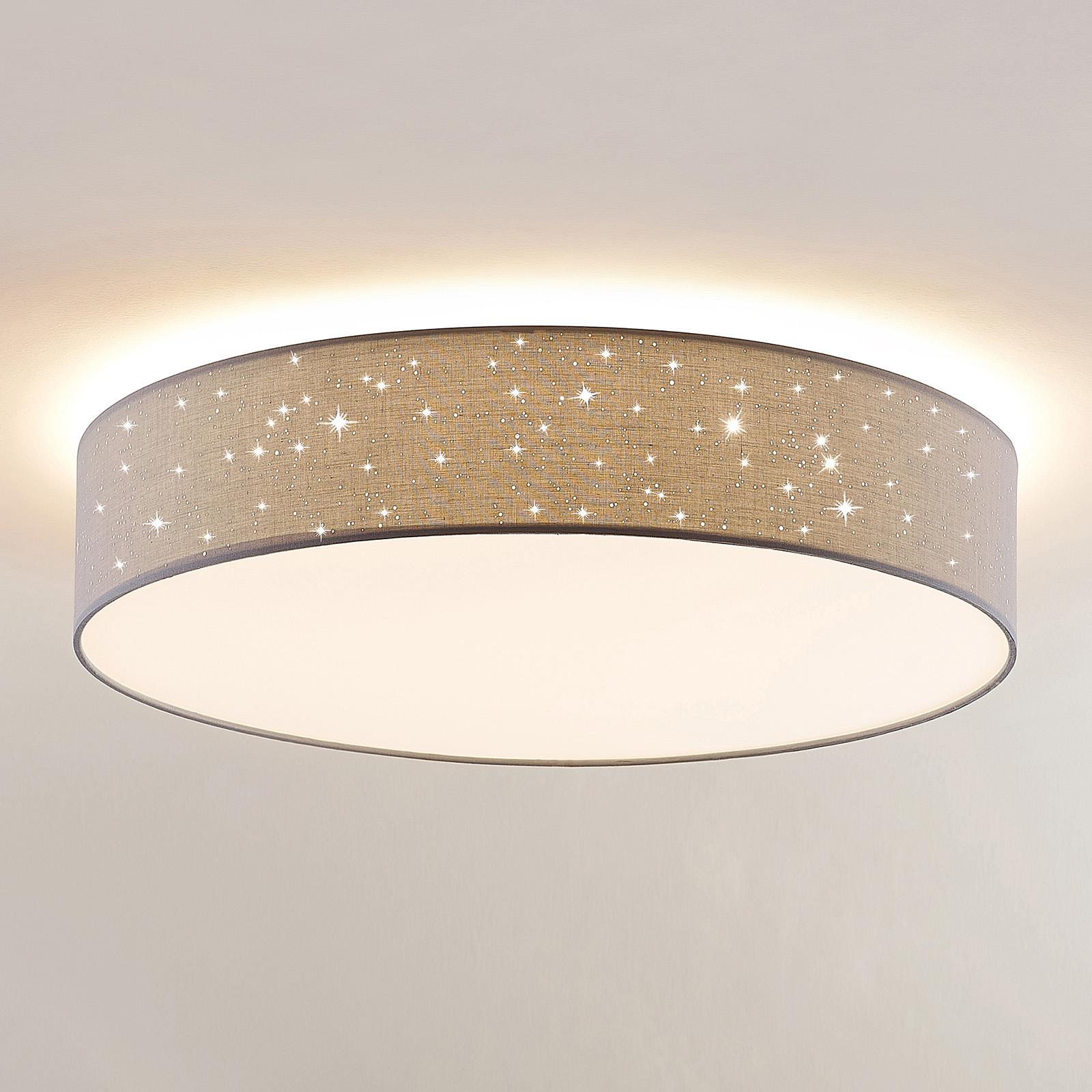 Lindby Ellamina LED-Deckenlampe, 60 cm, hellgrau