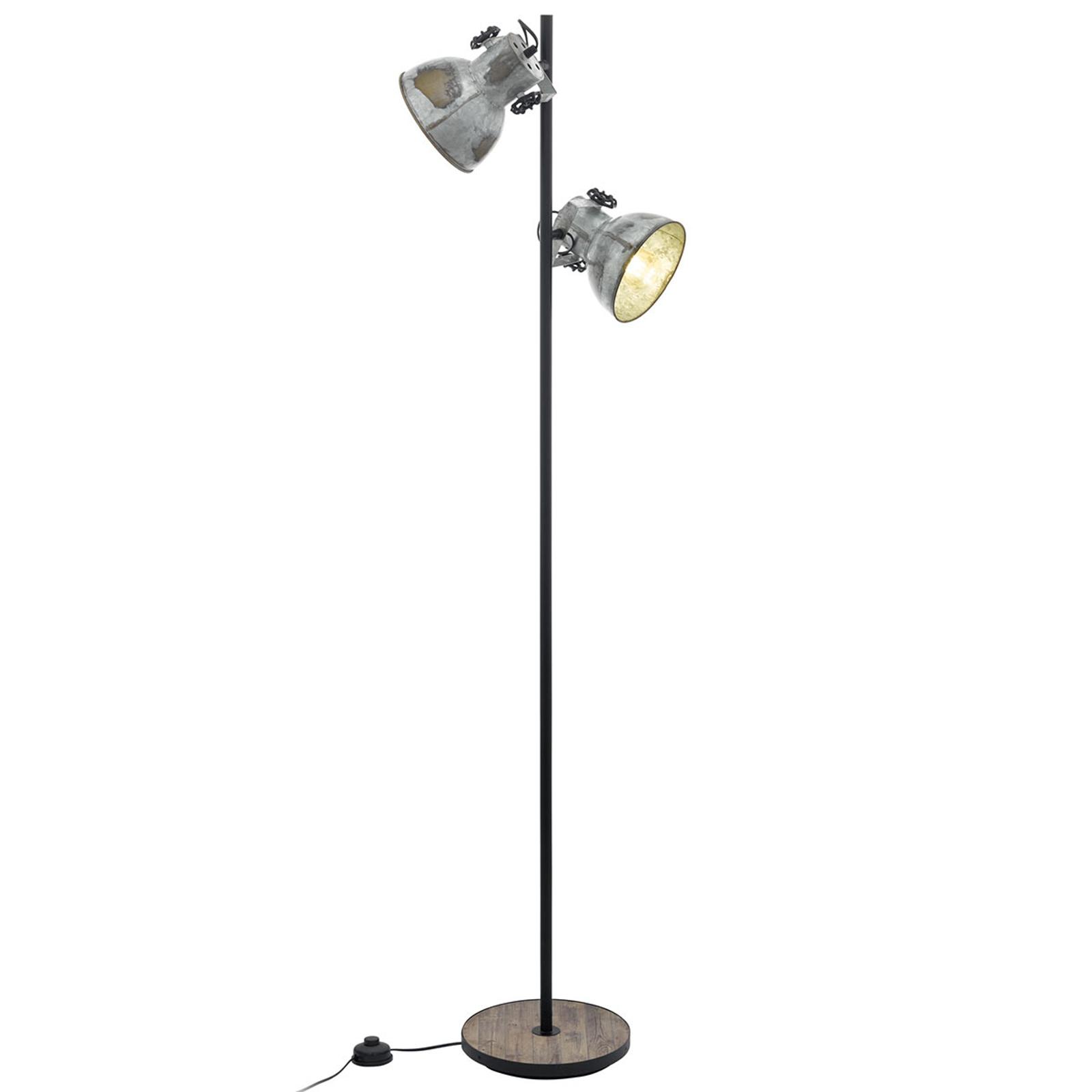 Gulvlampe Barnstaple med to lyskilder