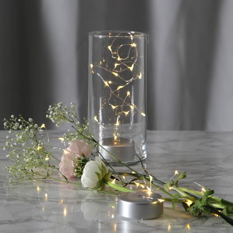 Guirlande lumineuse LED Dew Drops à piles, 100cm