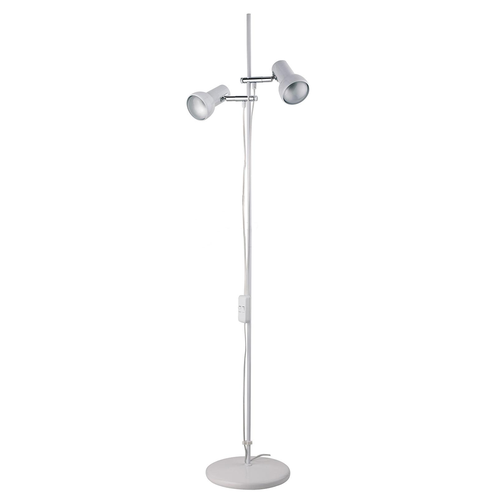 Lámpara de pie de 2 luces EIFEL, blanco