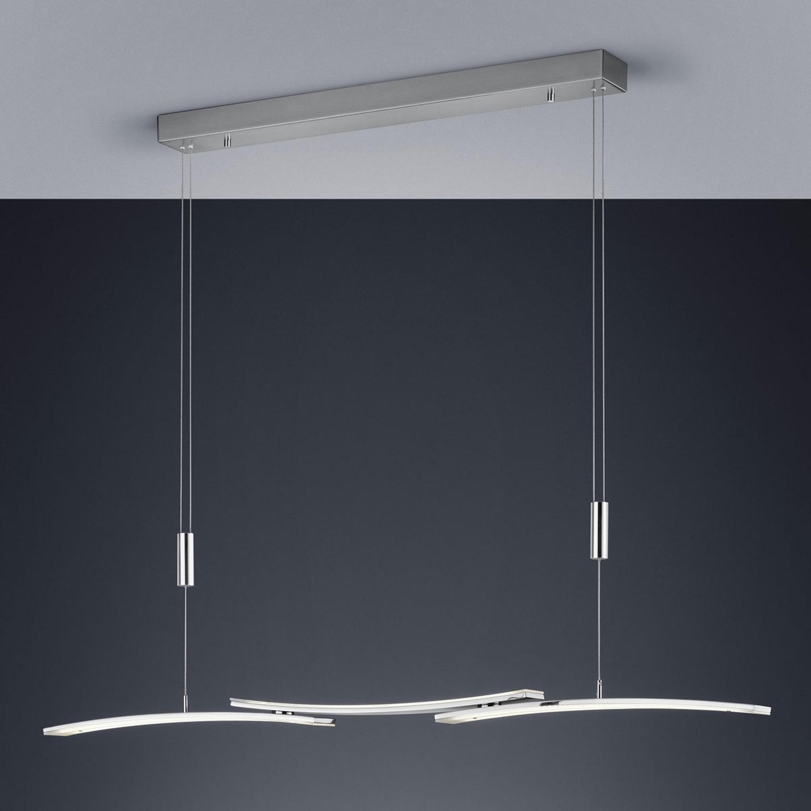 BANKAMP 2138/3-92 suspension LED, nickel mat