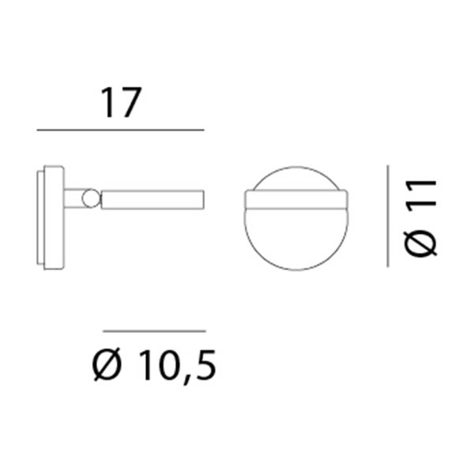 Rotaliana String H0 DTW LED-Wandleuchte schwarz