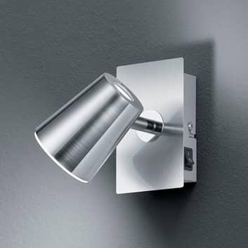 LED-veggspot Narcos nikkel matt