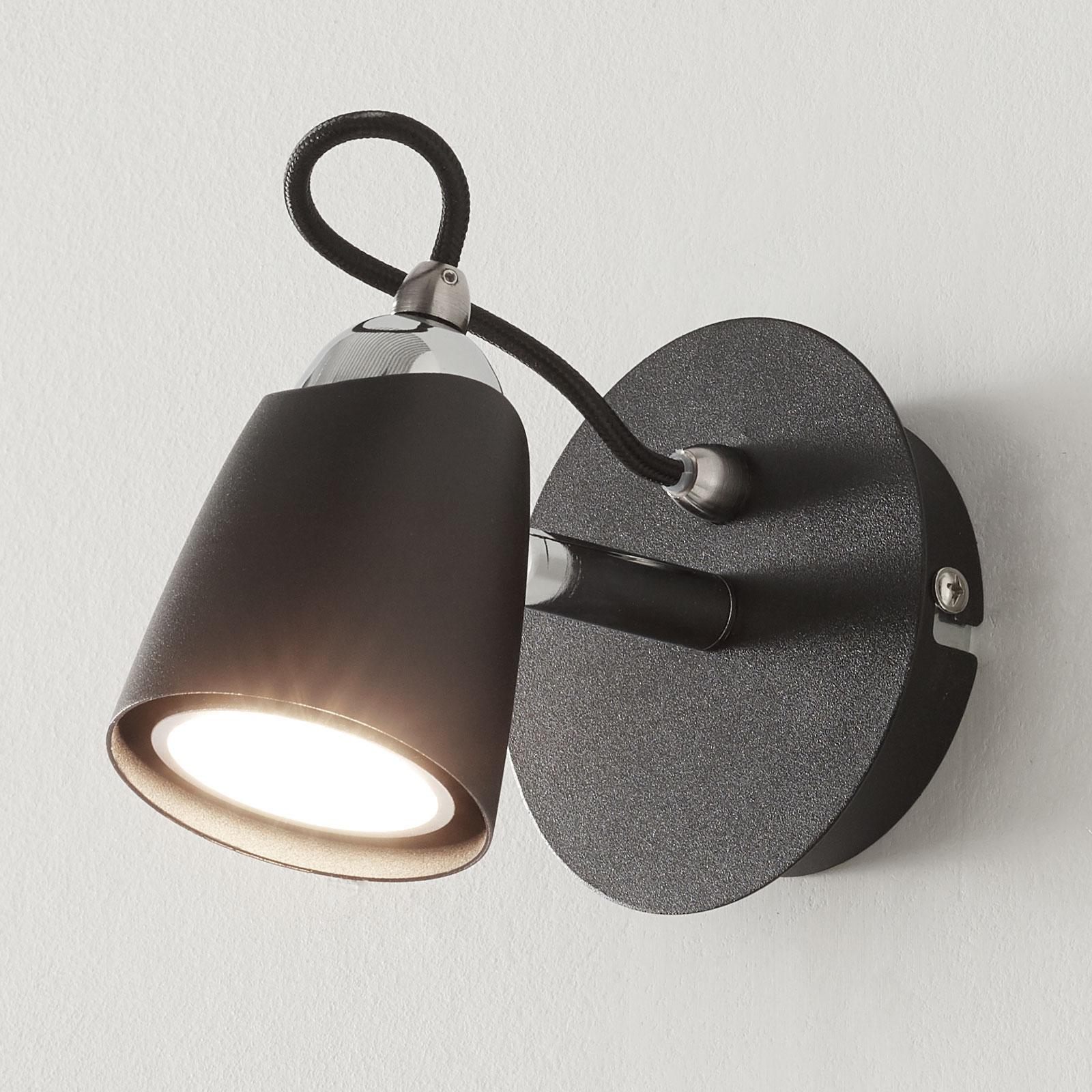Černé LED bodové osvětlení Marko, nastavitelné