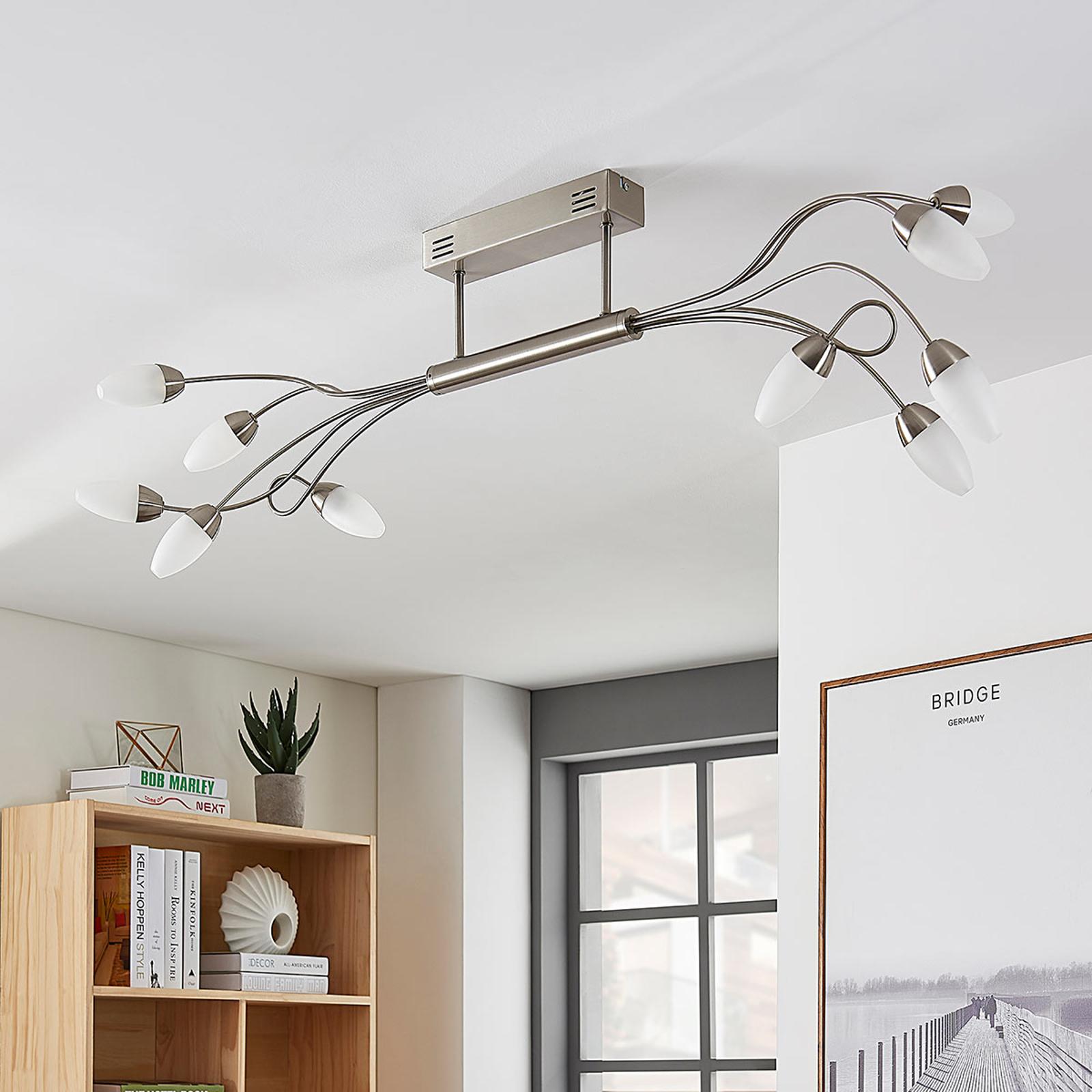 Plafonnier LED Deyan à 10 lampes, dimmable