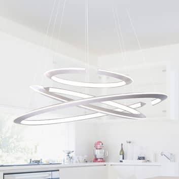 LED závěsné světlo Alessa se třemi LED kruhy