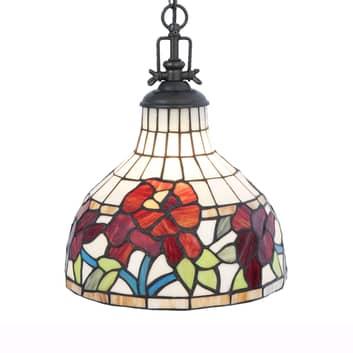 Lampa wisząca 5960 z kolorowym kloszem Tiffany