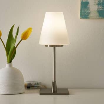 Lampada da tavolo Lucy Big funzione touch, bianca