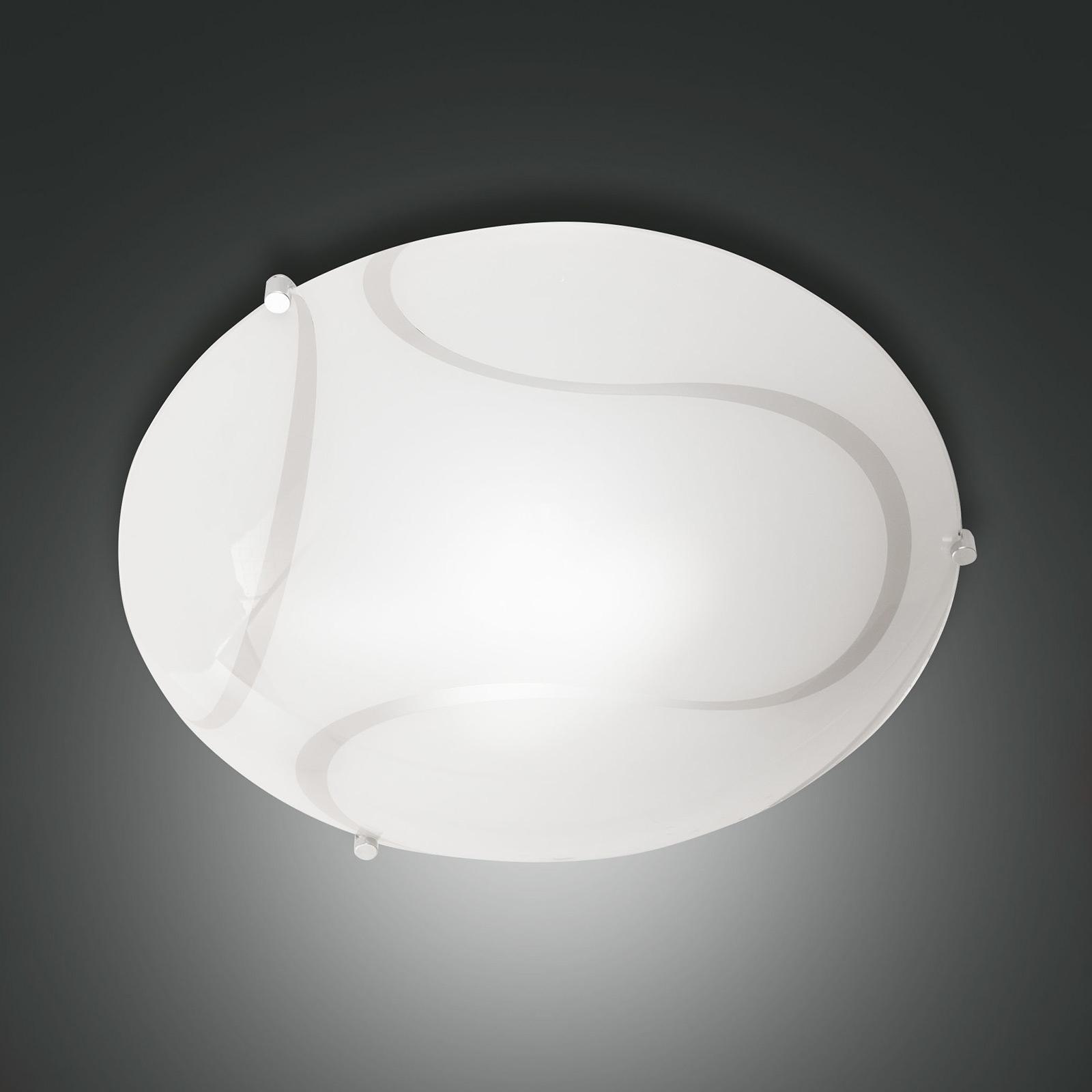 Lampa sufitowa Magma ze szkła, 30 cm