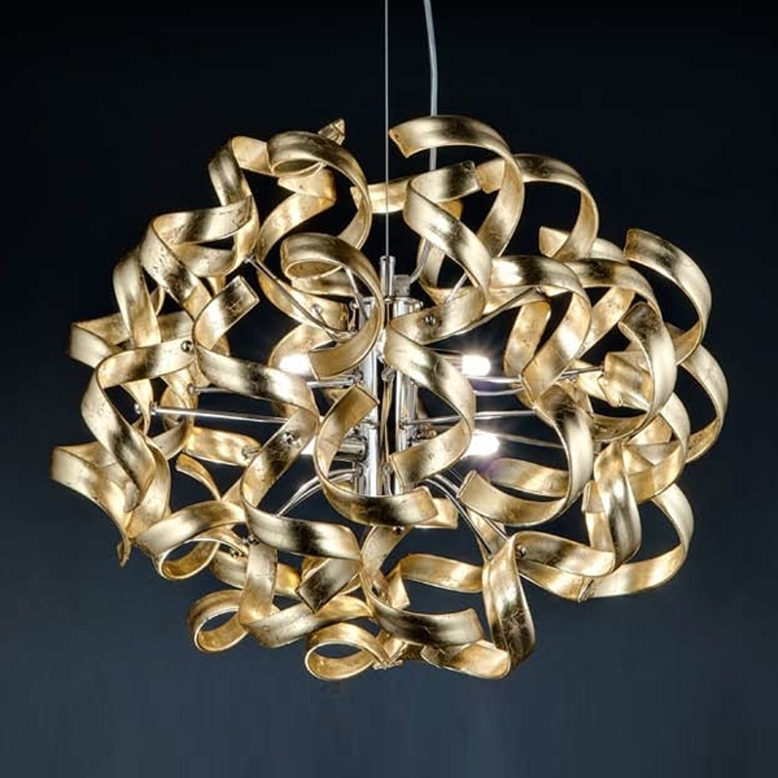 Piękna lampa wisząca Gold