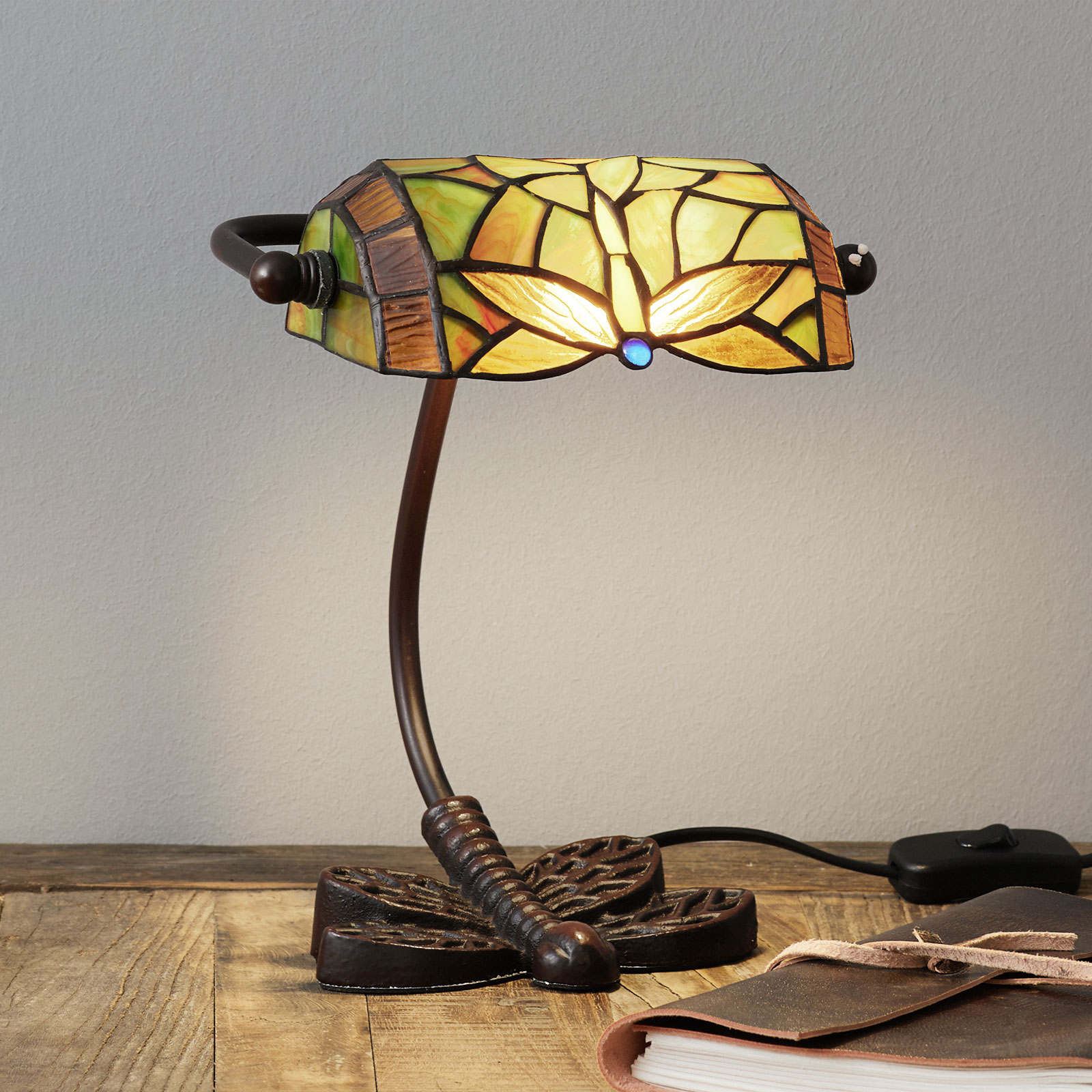 Lámpara de mesa famosa DRAGONFLY, hecha a mano