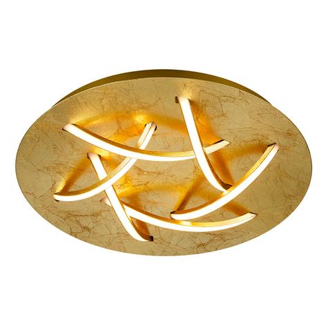 LED plafondlamp Dolphin, goud, Ø 45 cm