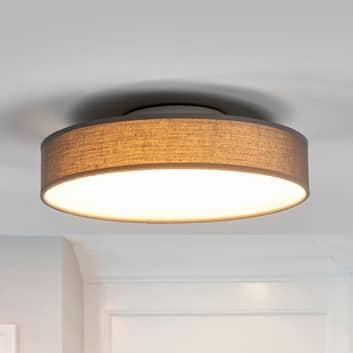 Saira LED-loftlampe med stof, 30 cm, grå