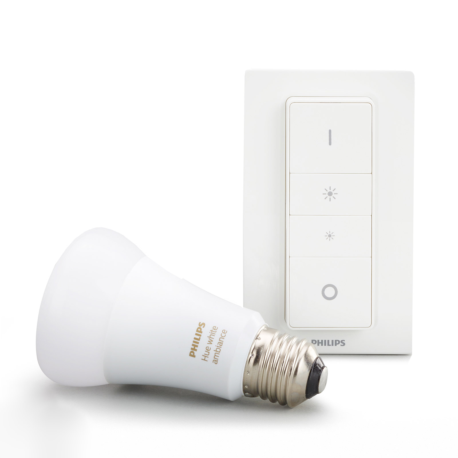 Philips Hue White Ambiance 8,5W E27, dimmerbrytare
