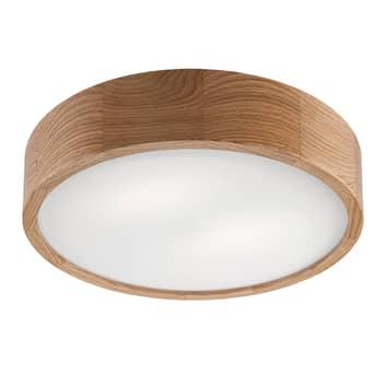 Lampa sufitowa Kerio, Ø 37 cm, dąb ciemny