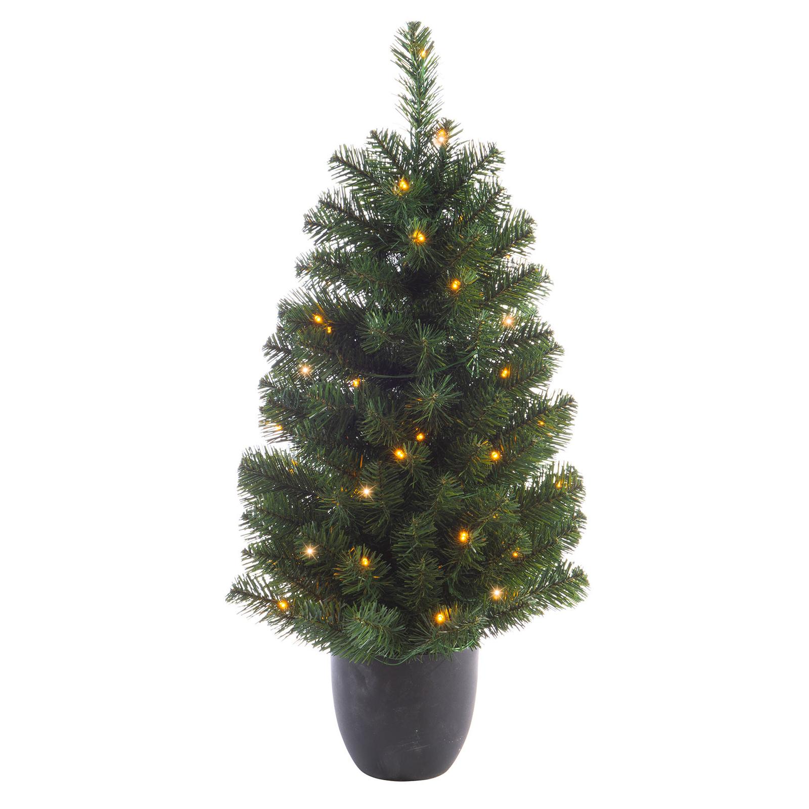 Imperial LED-træ i potte, batteri