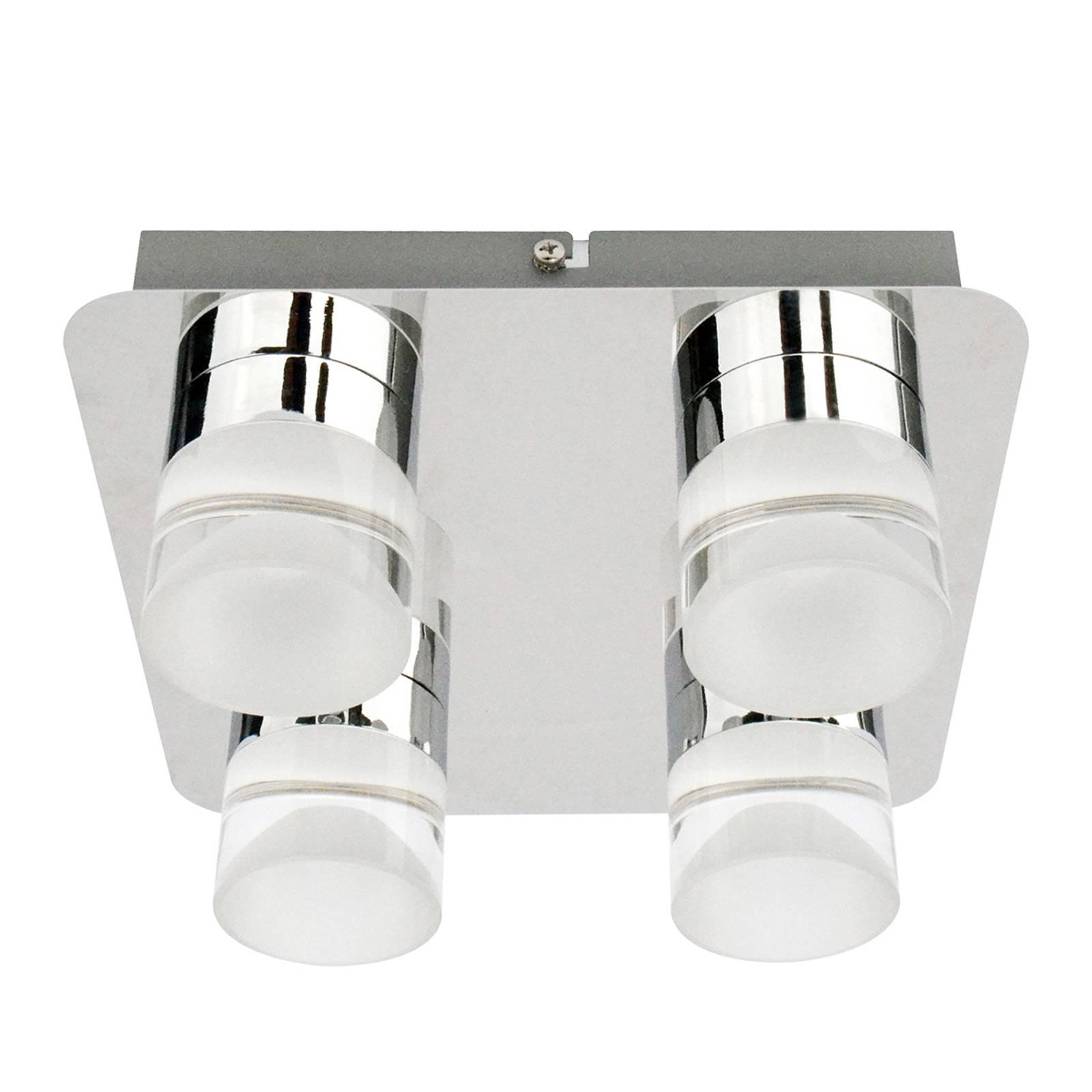 Lampa sufitowa LED Stefanie z 4 źródłami światła