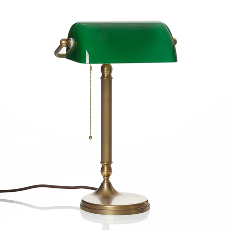 Wyrabiana ręcznie lampa bankierska JIVAN