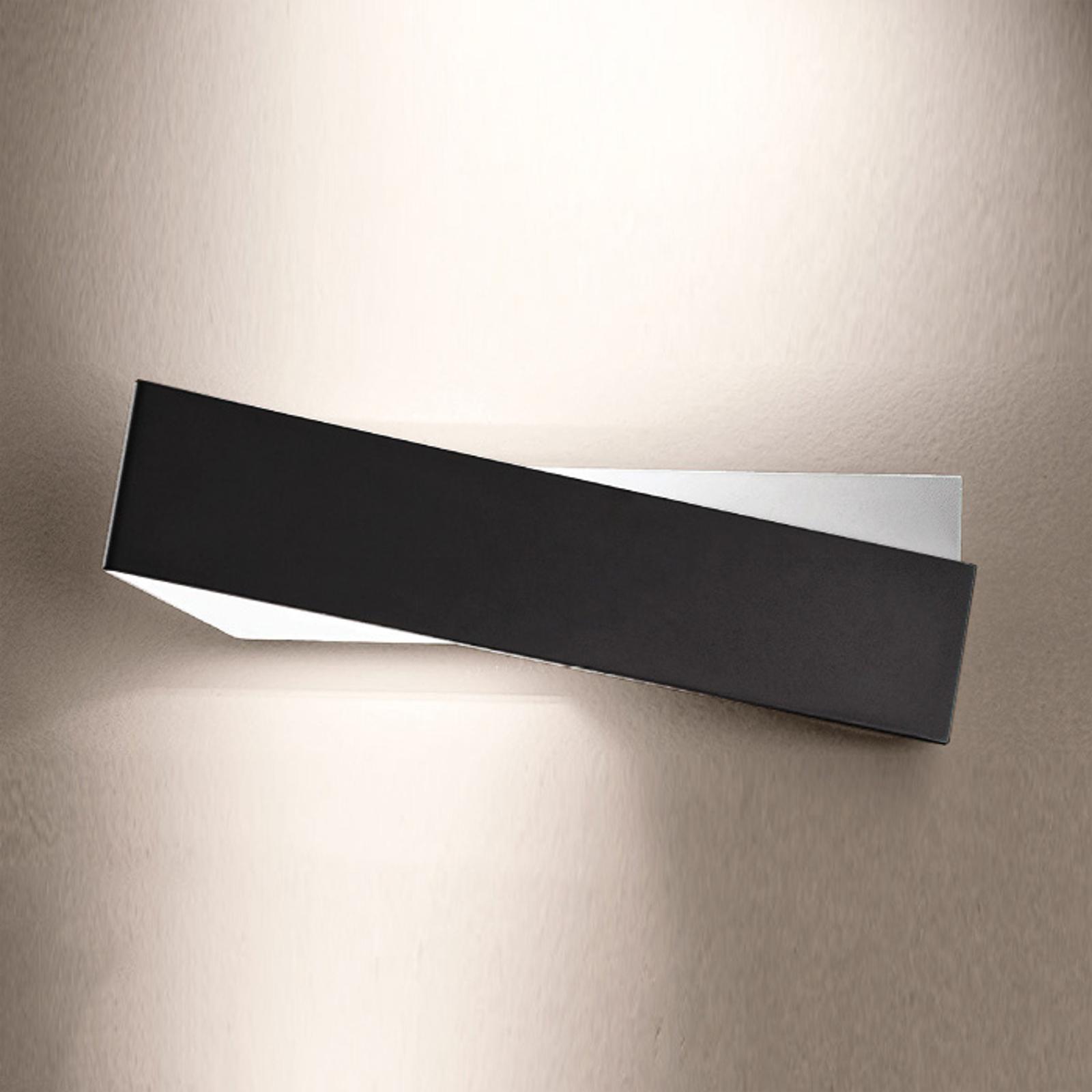 Wandleuchte Zig Zag in schwarz-weiß 43 cm