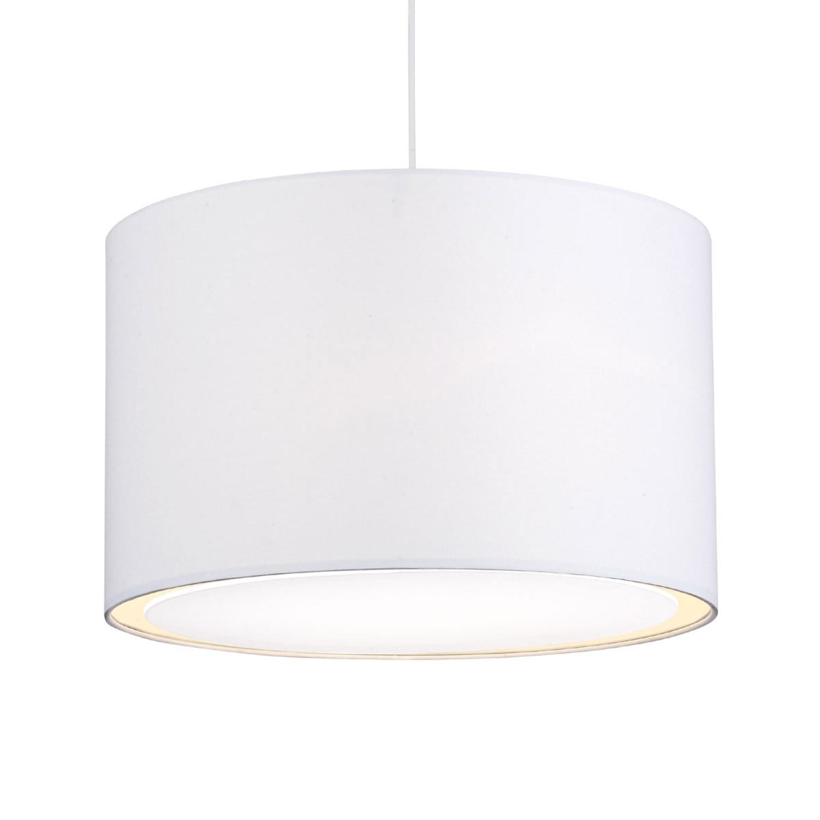Klassisk moderne Clarie pendellampe i hvitt