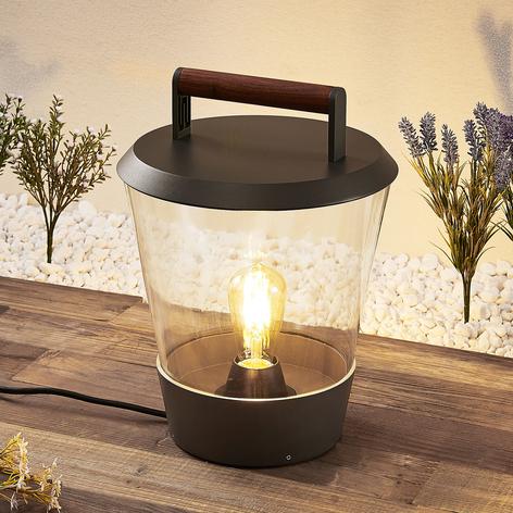 Lucande Larkyn tafellamp, buitendecoratie