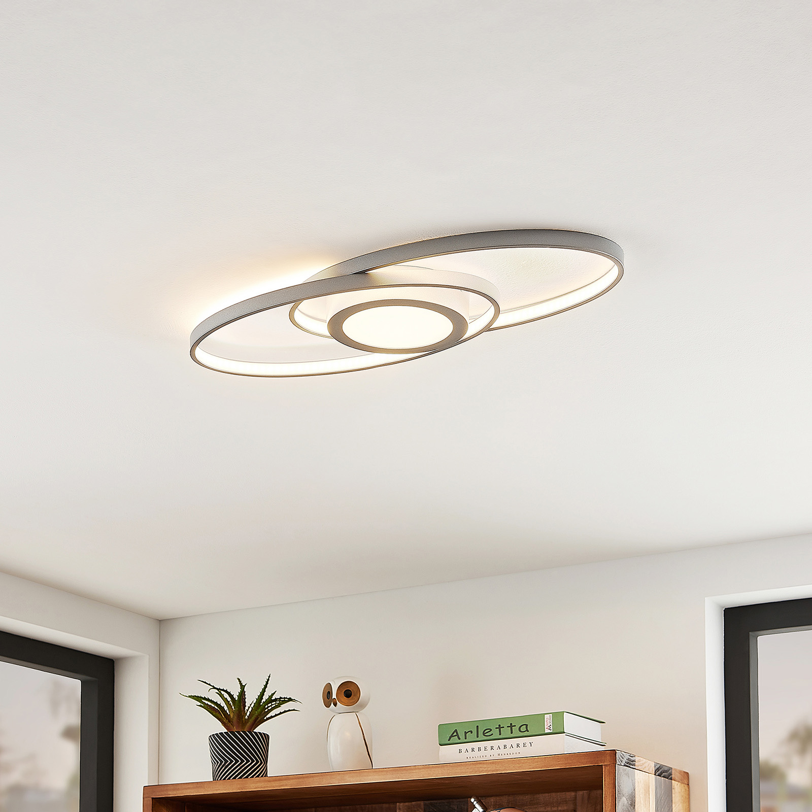 Lindby Charlok lampa sufitowa LED, ściemniana