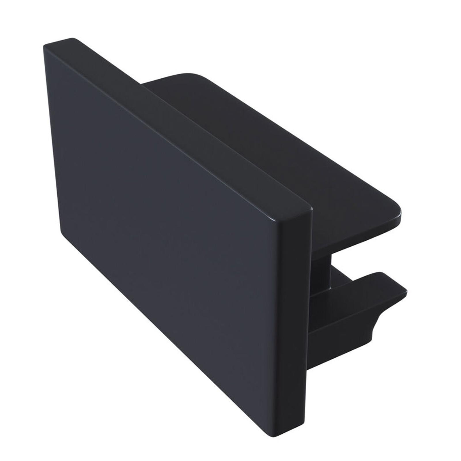Endekappe Track, 1-faset skinne, sort
