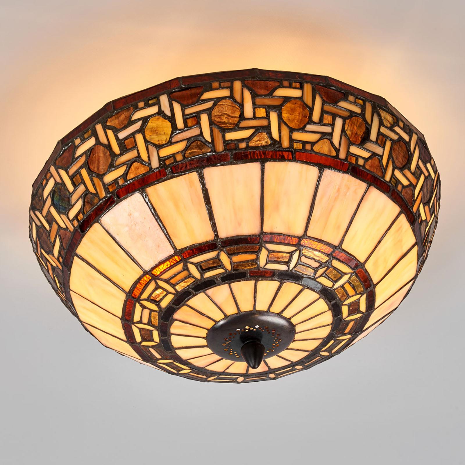 Wilma - lampada da soffitto in stile Tiffany
