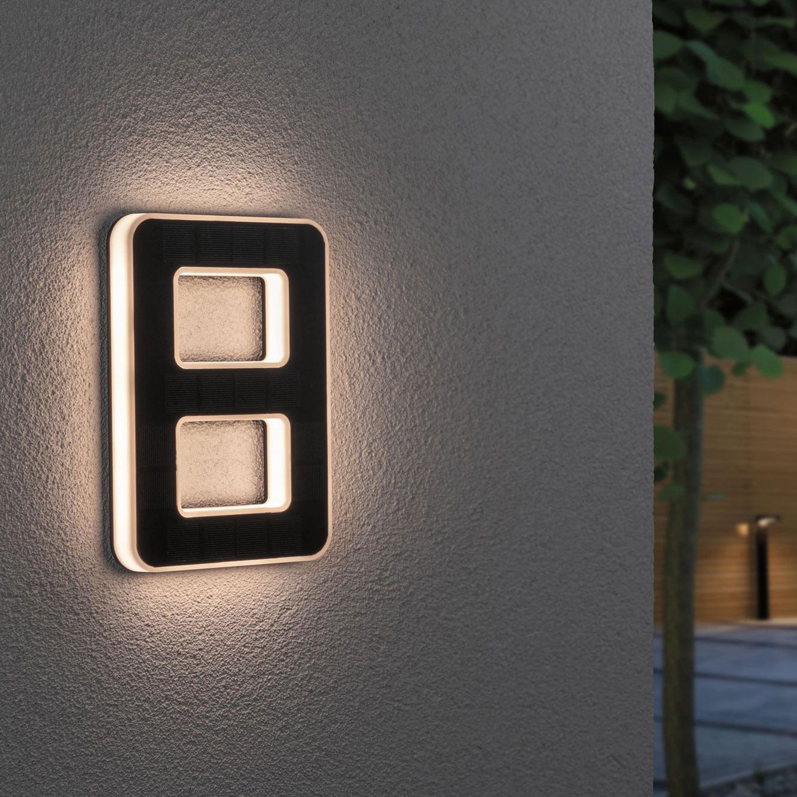 Paulmann LED-sol-husnummer 8