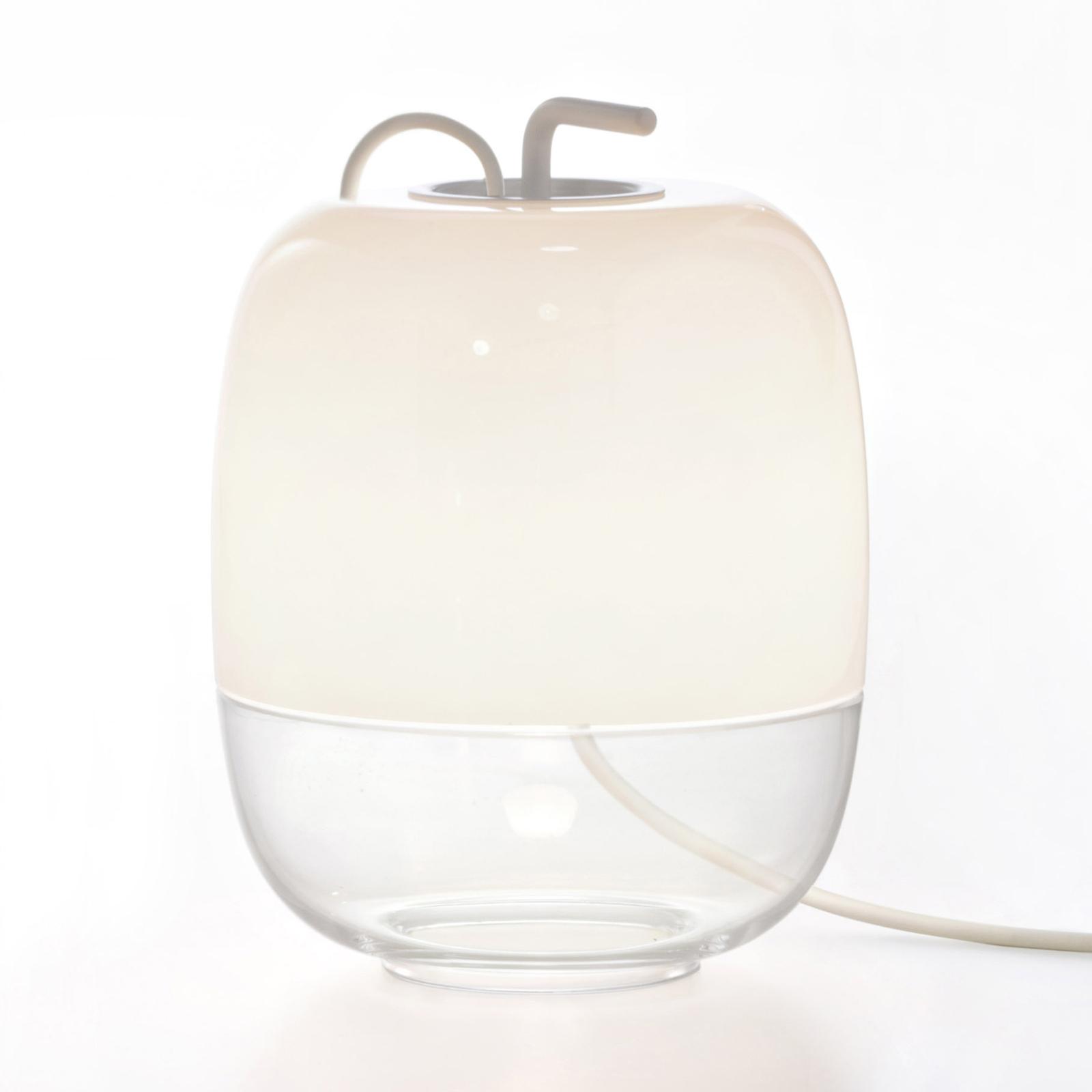 Prandina Gong T1 lampada da tavolo, bianco