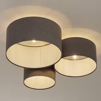 Lámpara de techo 080, 3 luces, gris claro-blanco