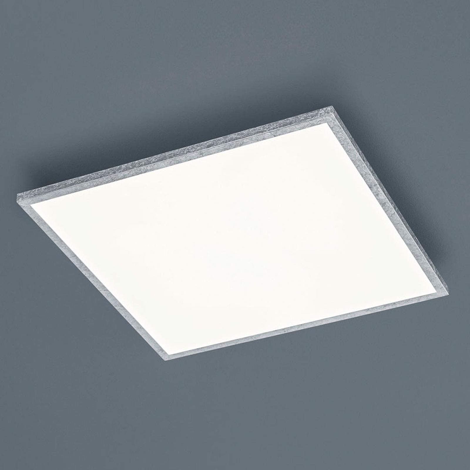 Helestra Rack LED plafondlamp dimmen hoekig zilver