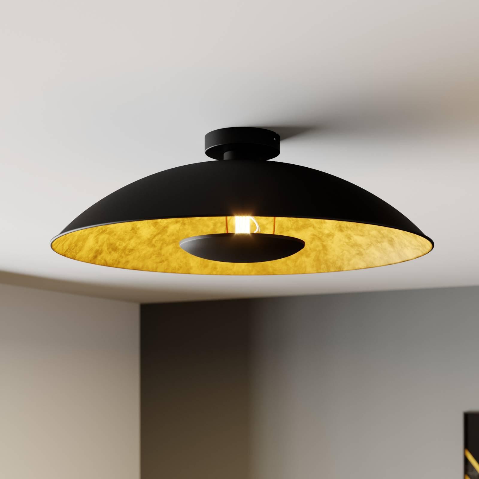 Czarno-złota lampa sufitowa Emilienne