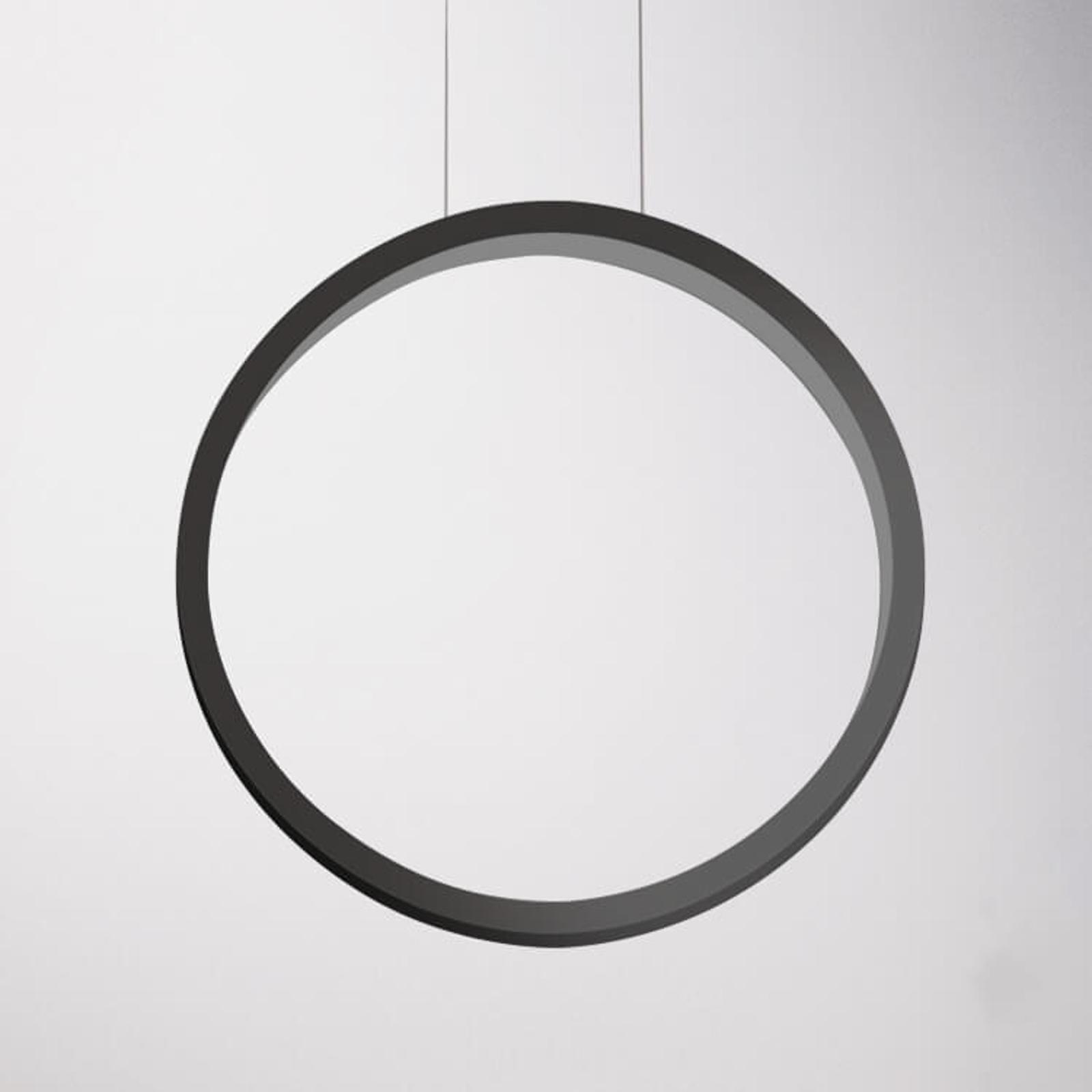Cini&Nils Assolo - schwarze LED-Hängeleuchte 43 cm